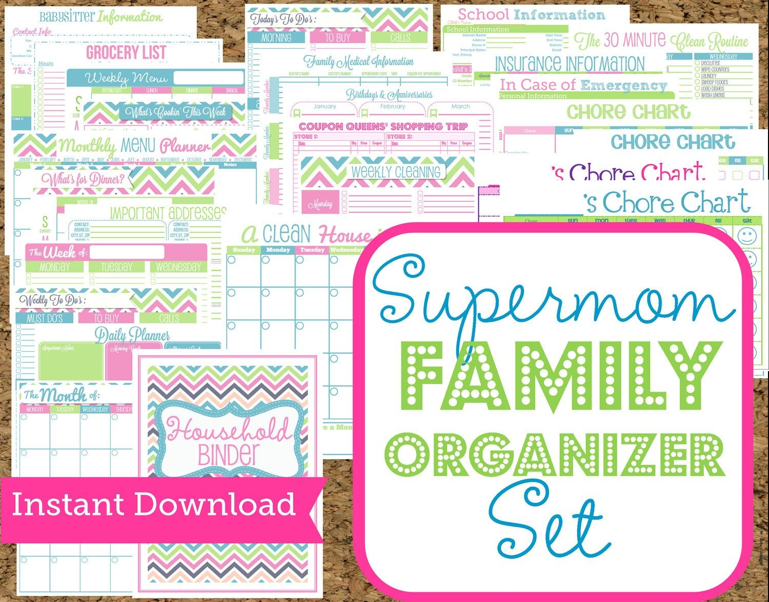 Instant Download Mom Planners Home Organization