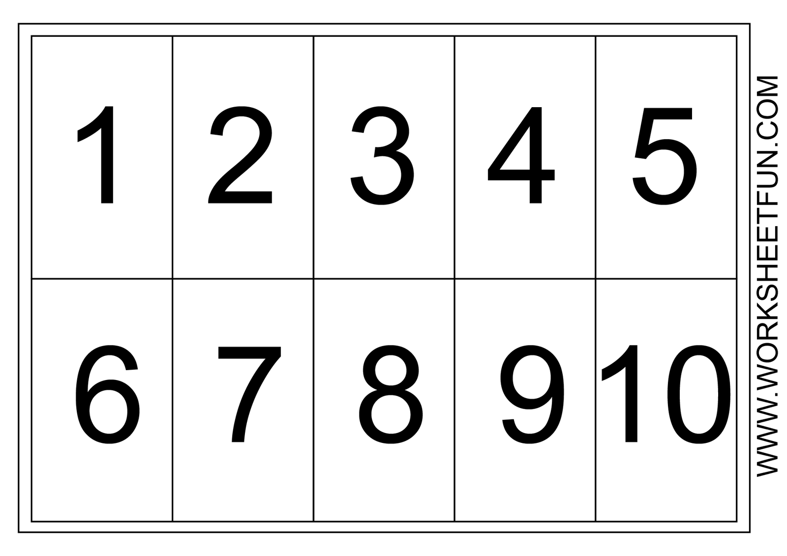 Number Chart 1 10 Free Printable Worksheets