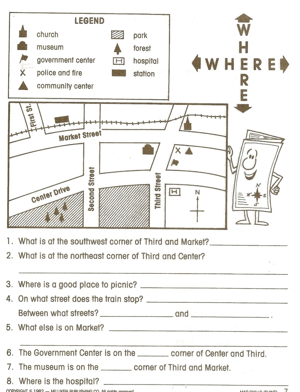 medium resolution of 1st Grade Library Skills Worksheets   Printable Worksheets and Activities  for Teachers