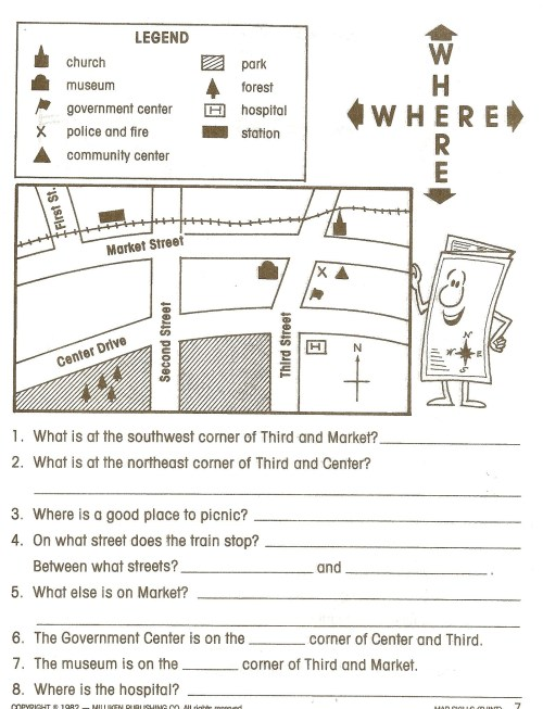 small resolution of 1st Grade Library Skills Worksheets   Printable Worksheets and Activities  for Teachers