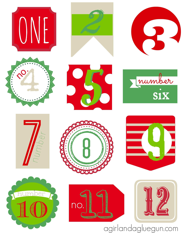 Free Printable 12 Days Of Christmas T Tags