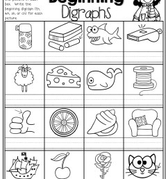 Digraph Worksheets Sh Ch   Printable Worksheets and Activities for  Teachers [ 1325 x 1024 Pixel ]