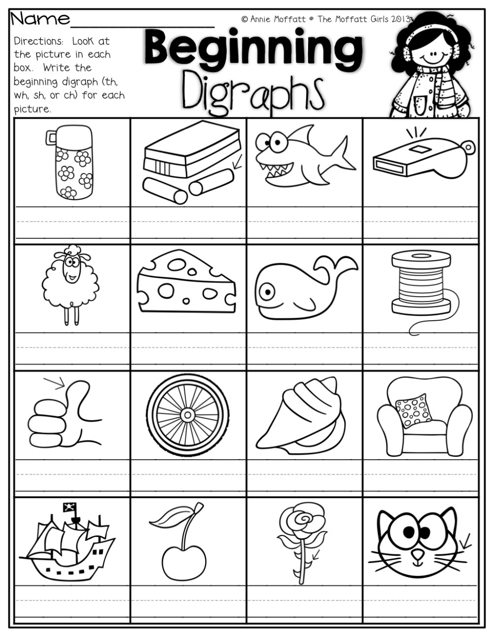 medium resolution of Digraph Worksheets Sh Ch   Printable Worksheets and Activities for  Teachers