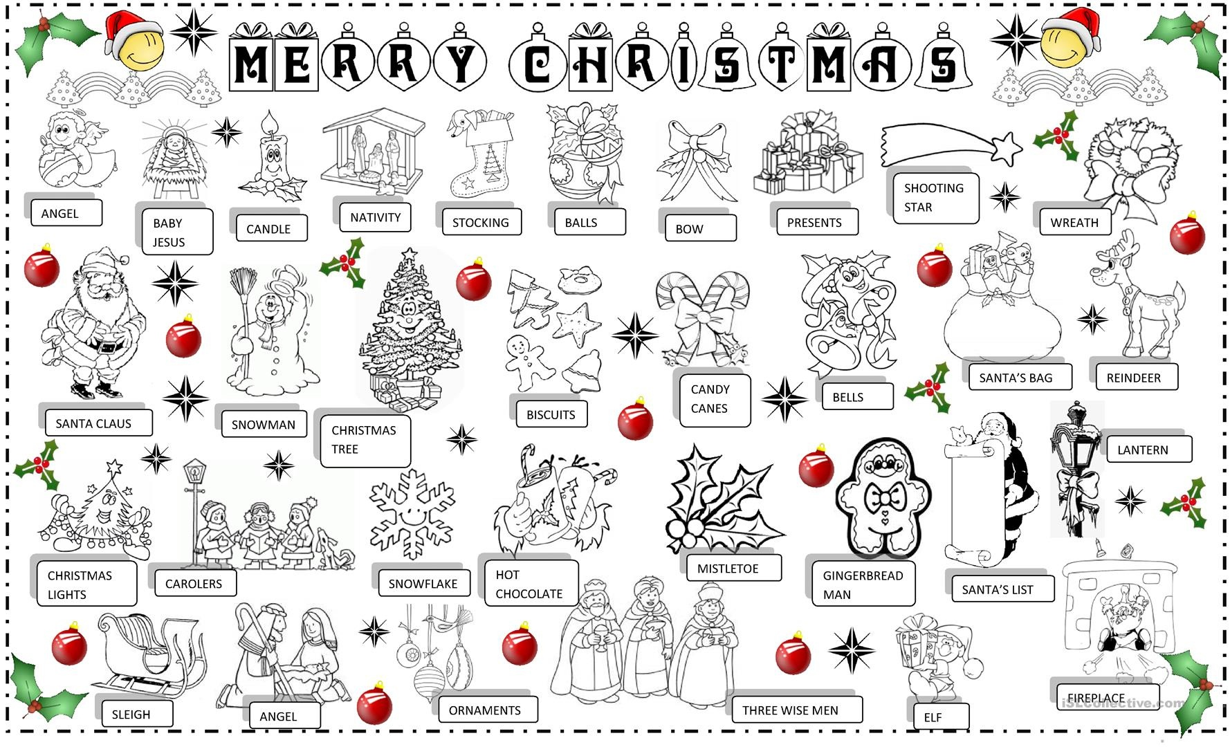 Free Printable Christmas Pictionary Cards