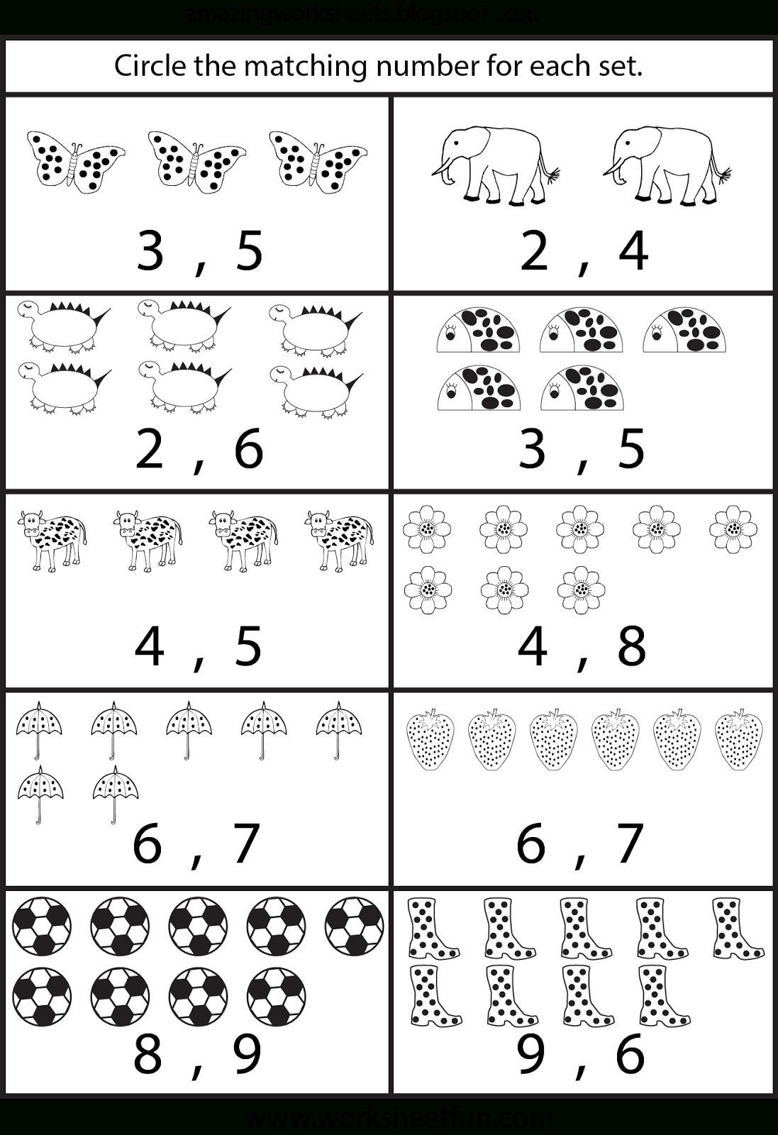 Printable Counting Worksheet