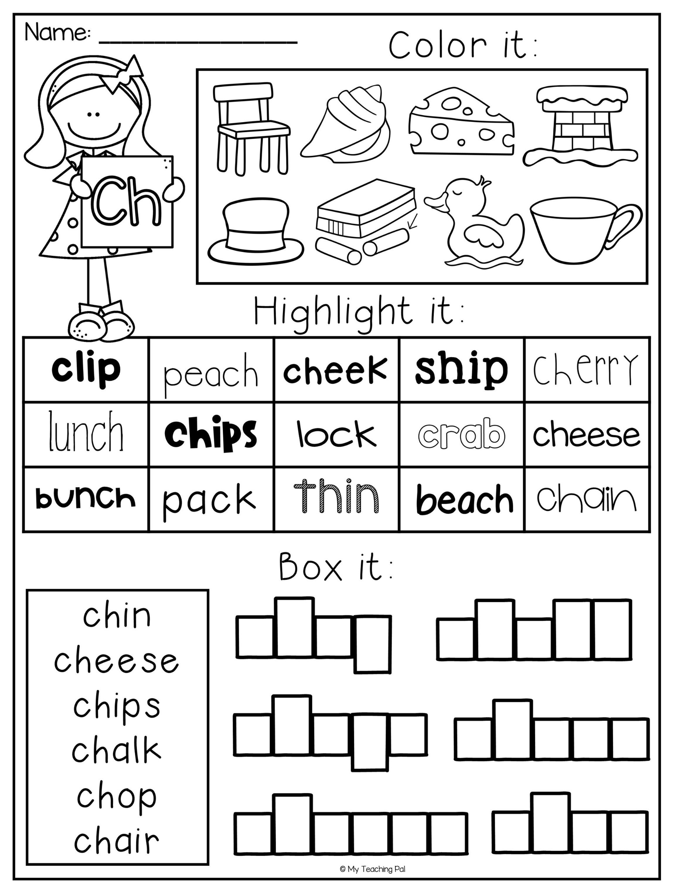 Sh Worksheets Free Printable