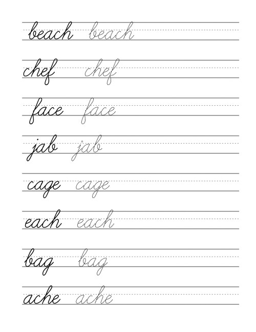 small resolution of Cursive Writing Worksheets 4th Grade   Printable Worksheets and Activities  for Teachers
