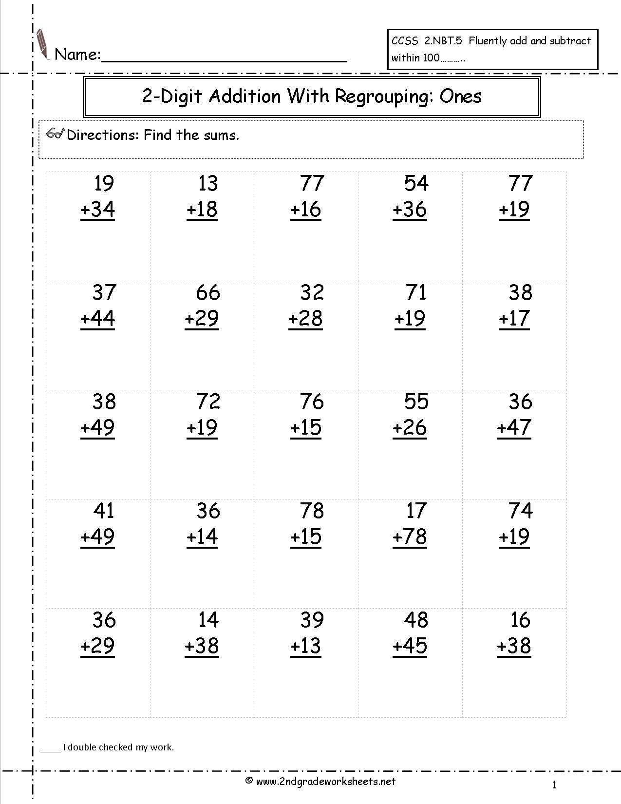 Free Printable Math Worksheets For 2nd Grade