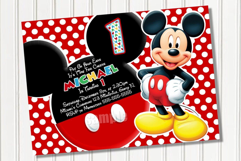 Free Printable Mickey Mouse Invitations Free Printable
