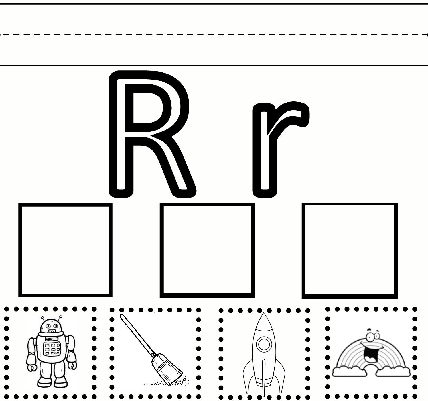Free Printable Preschool Worksheets For The Letter R