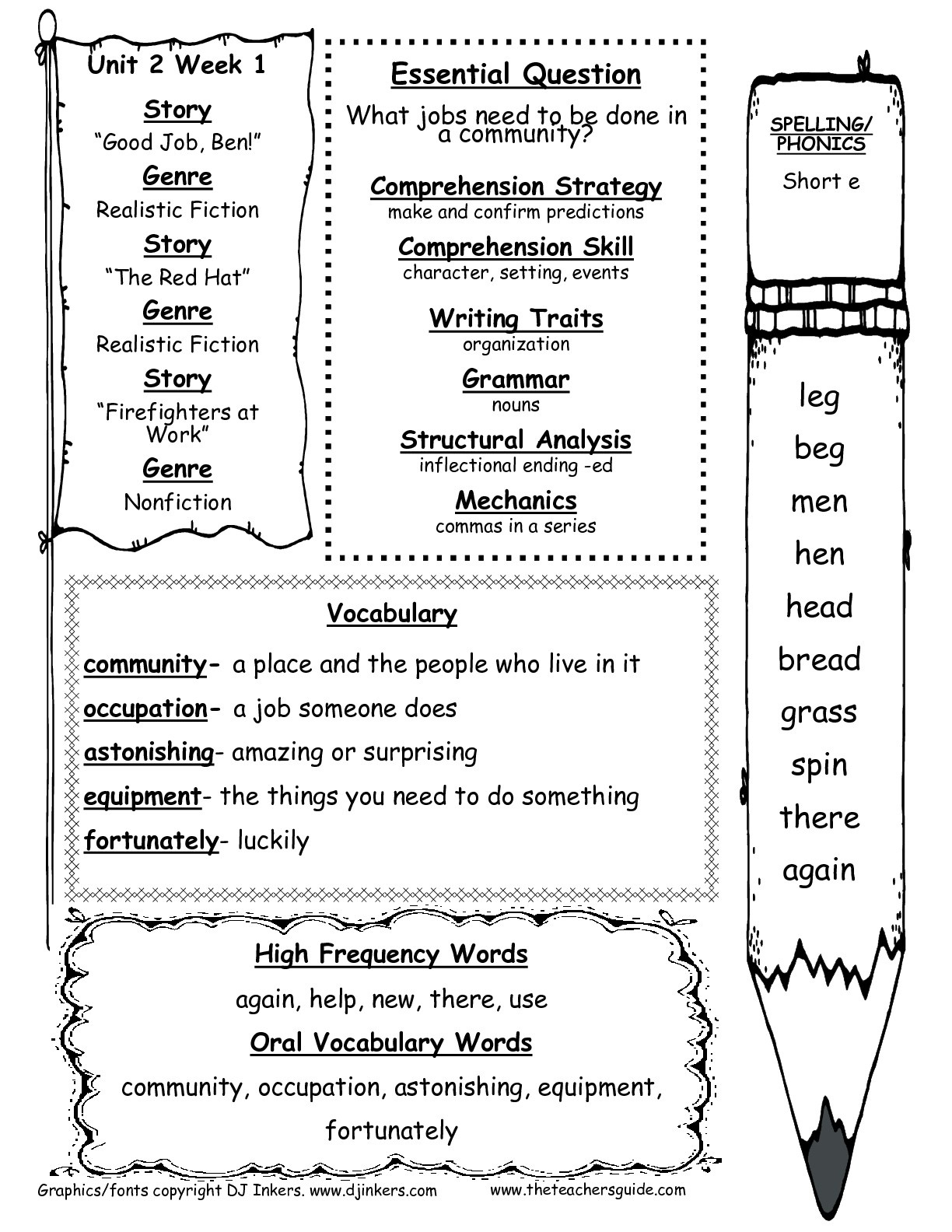 Free Printable Worksheets For 1st Grade