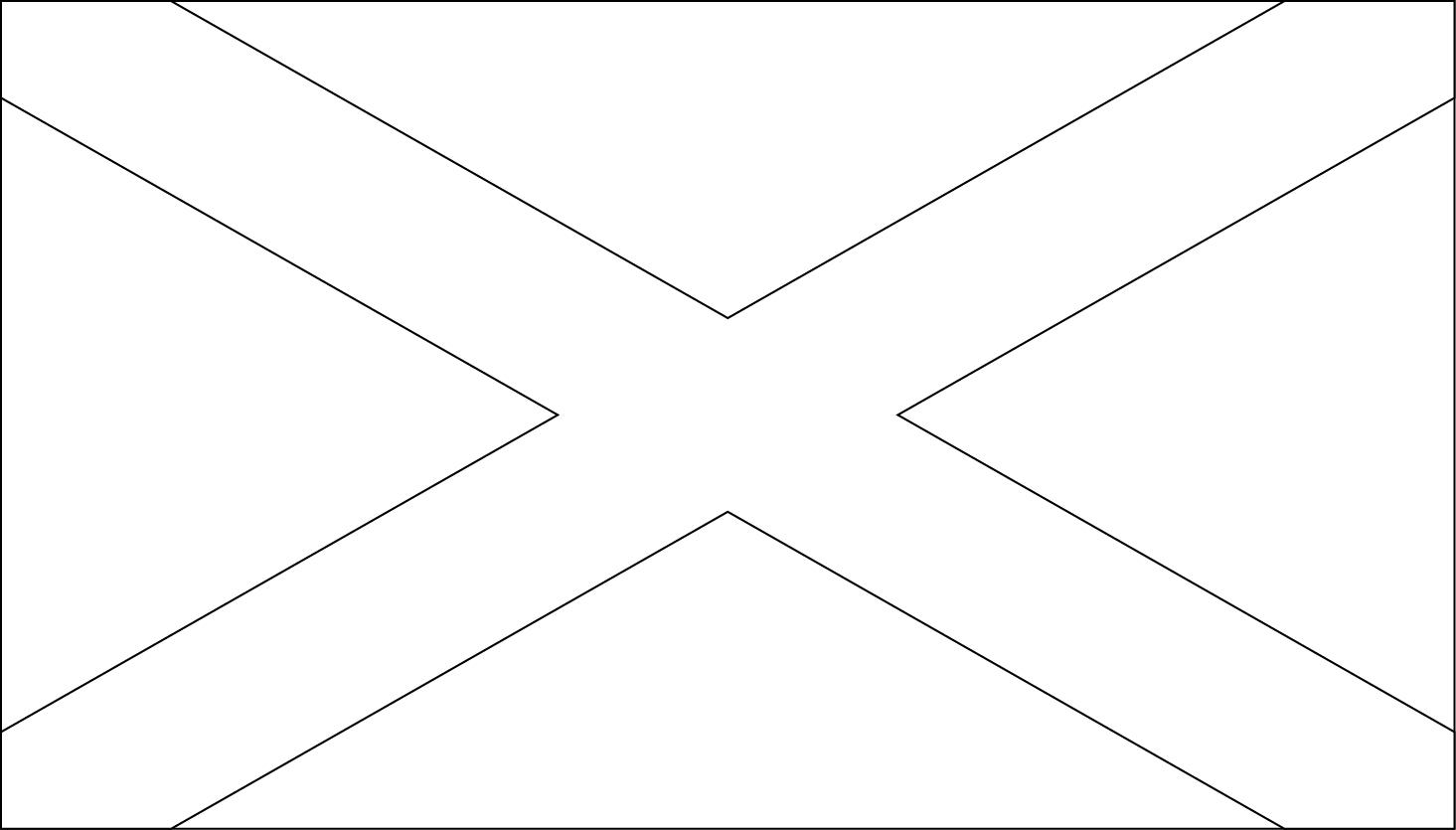 Printable Scotland Flag Coloring Worksheet