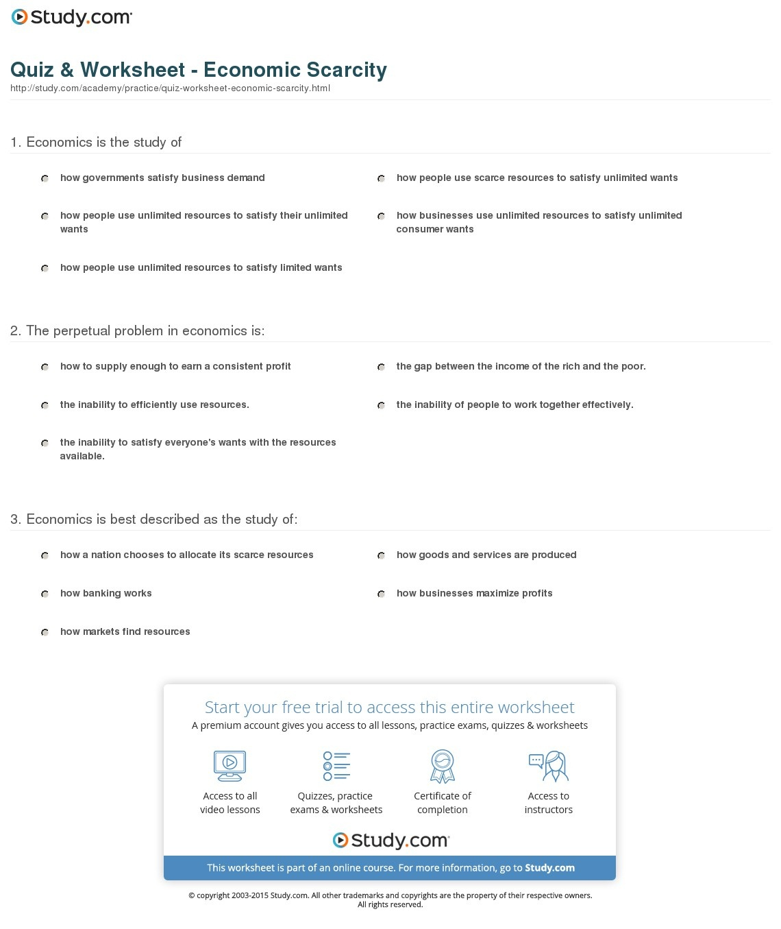 hight resolution of Printable Economics Worksheets   Printable Worksheets and Activities for  Teachers