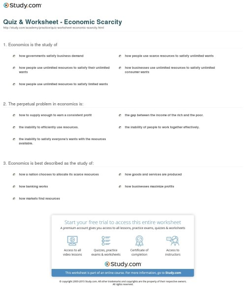 small resolution of Printable Economics Worksheets   Printable Worksheets and Activities for  Teachers