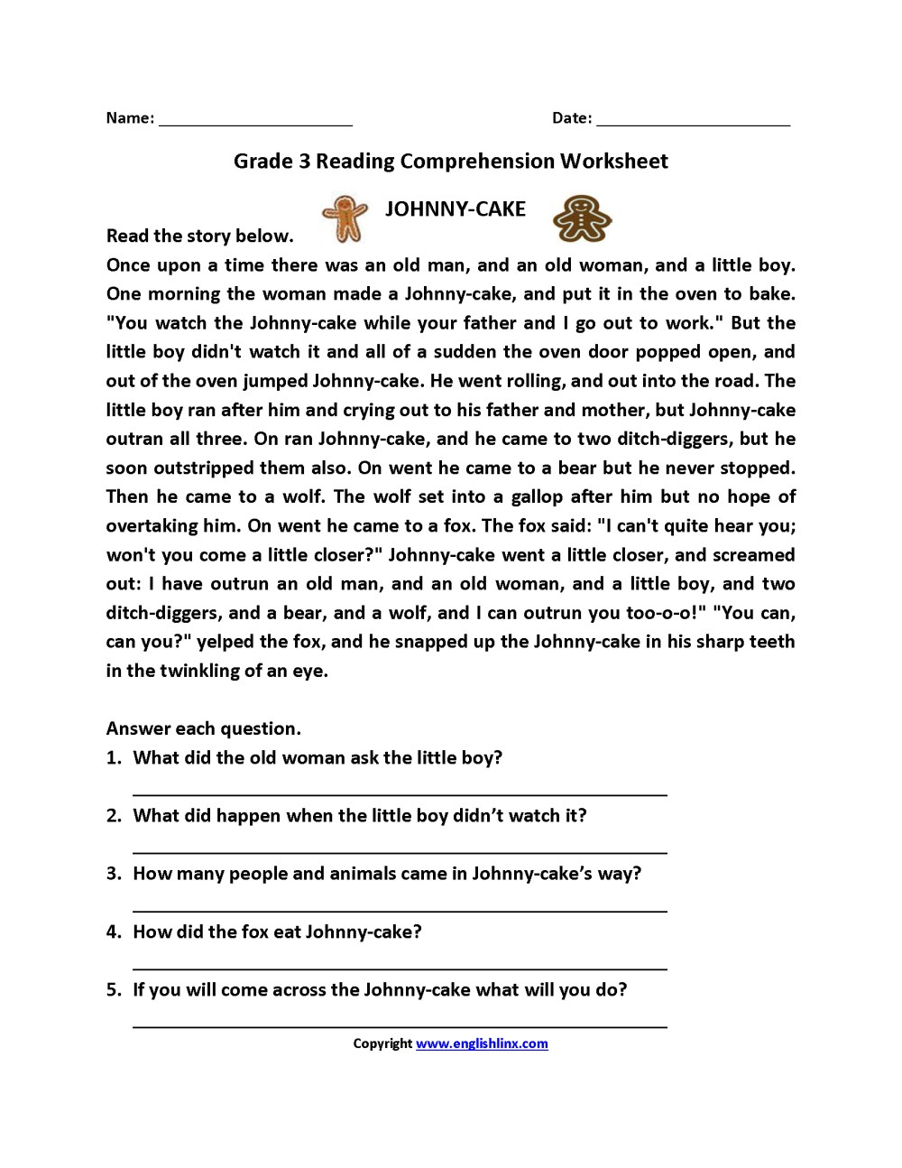 medium resolution of Free Reading Comprehension Worksheets Third Grade   www.robertdee.org