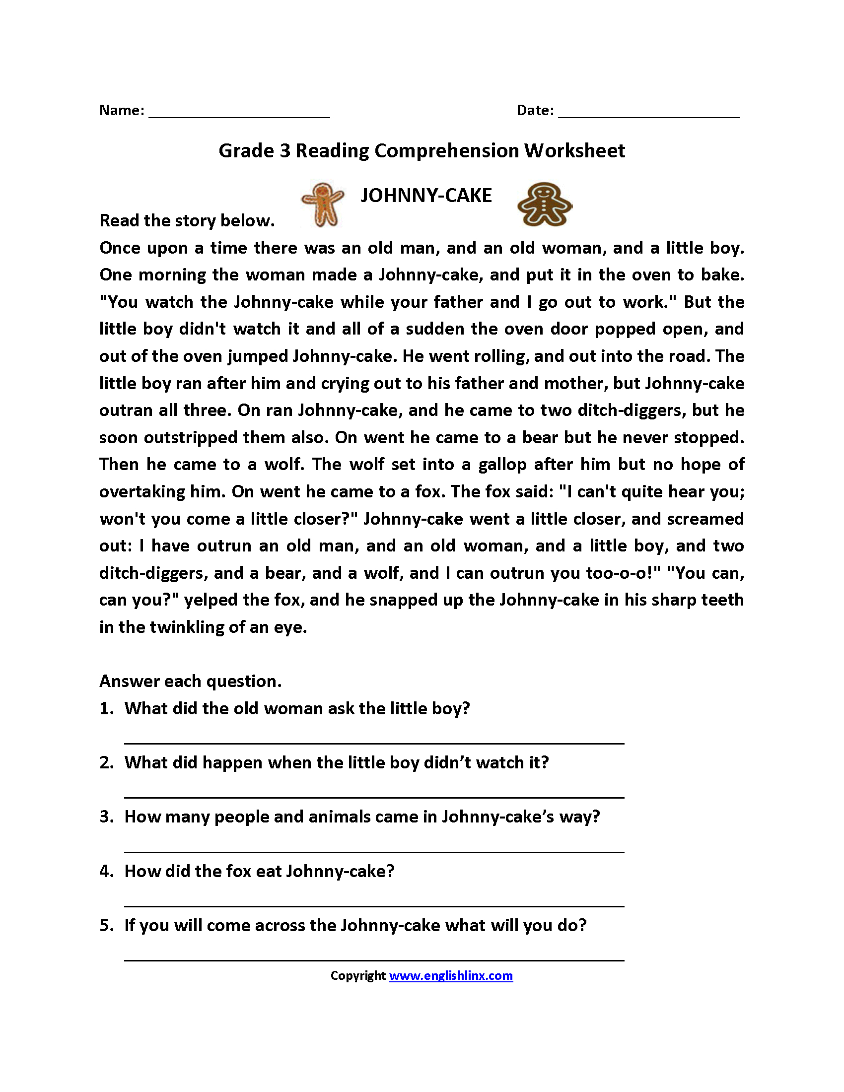hight resolution of Free Reading Comprehension Worksheets Third Grade   www.robertdee.org