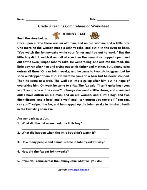 small resolution of Free Reading Comprehension Worksheets Third Grade   www.robertdee.org