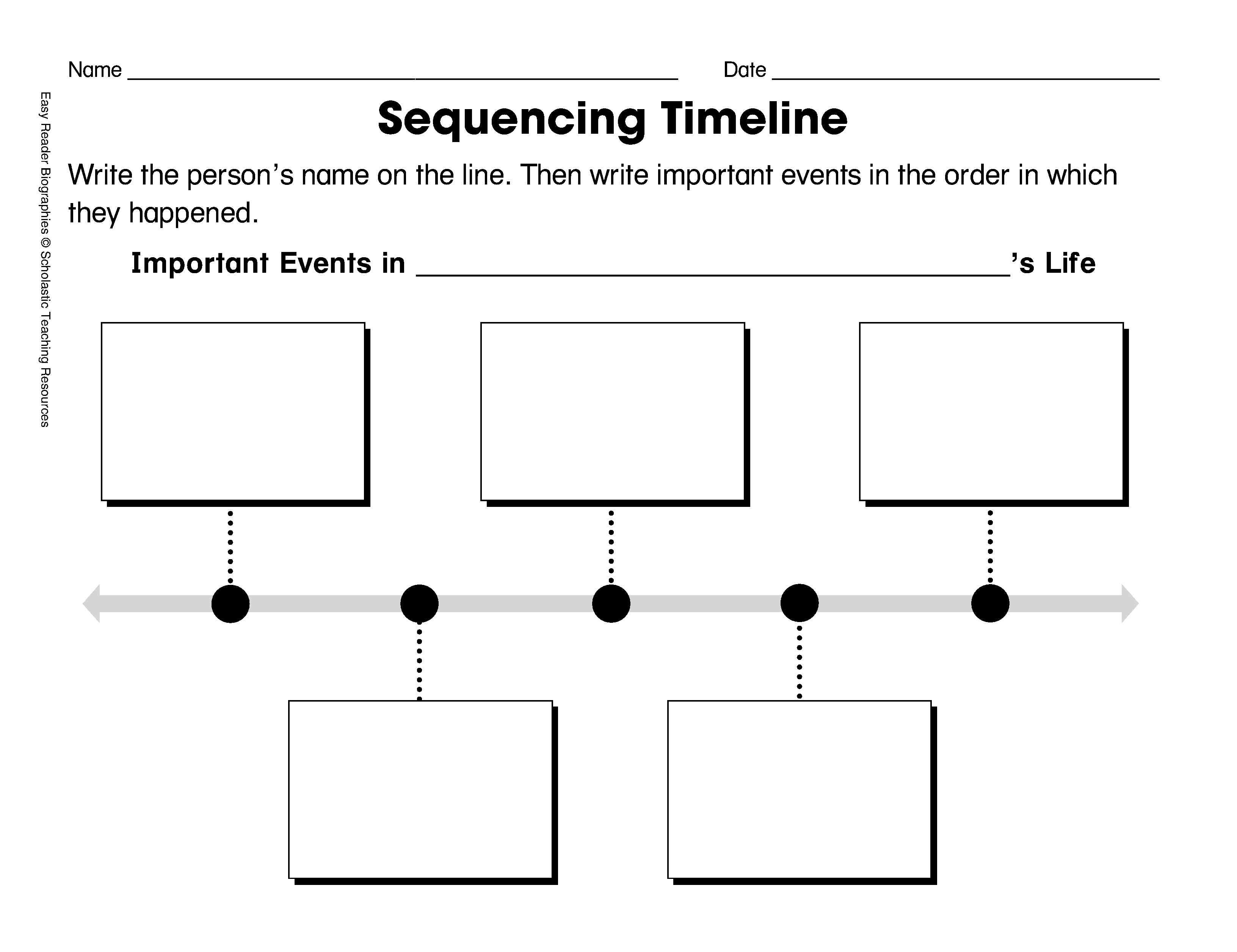 Free Printable Sequence Of Events Graphic Organizer