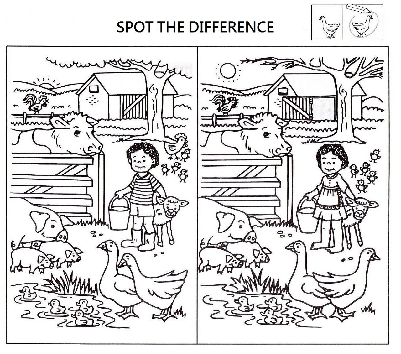 Spot The Difference Printable