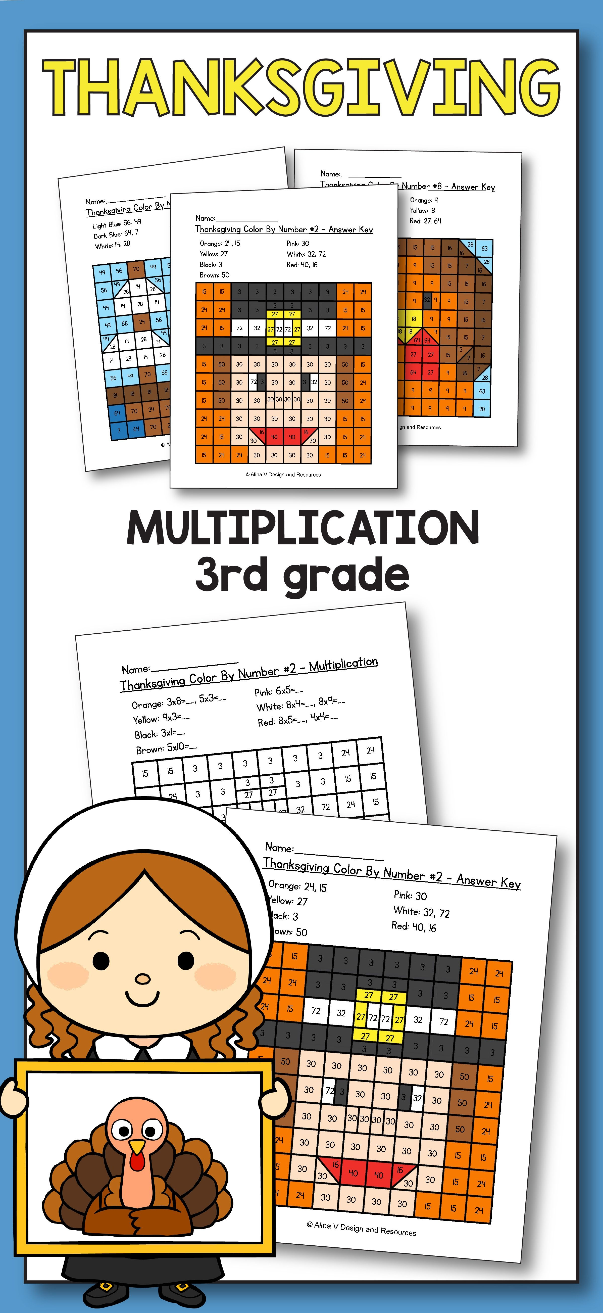Free Printable Thanksgiving Math Worksheets For 3rd Grade