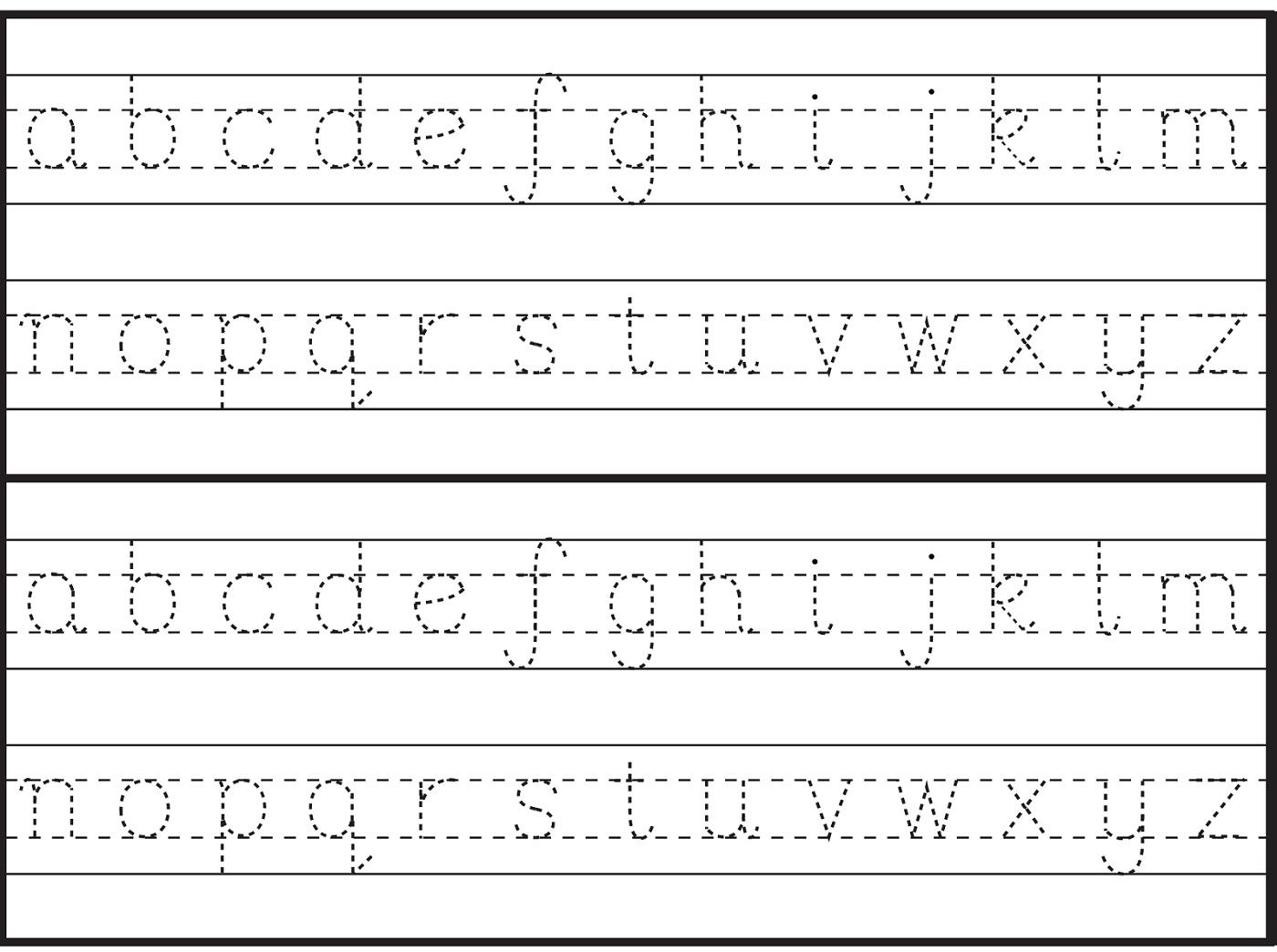 Free Printable Alphabet Worksheets For Grade 1