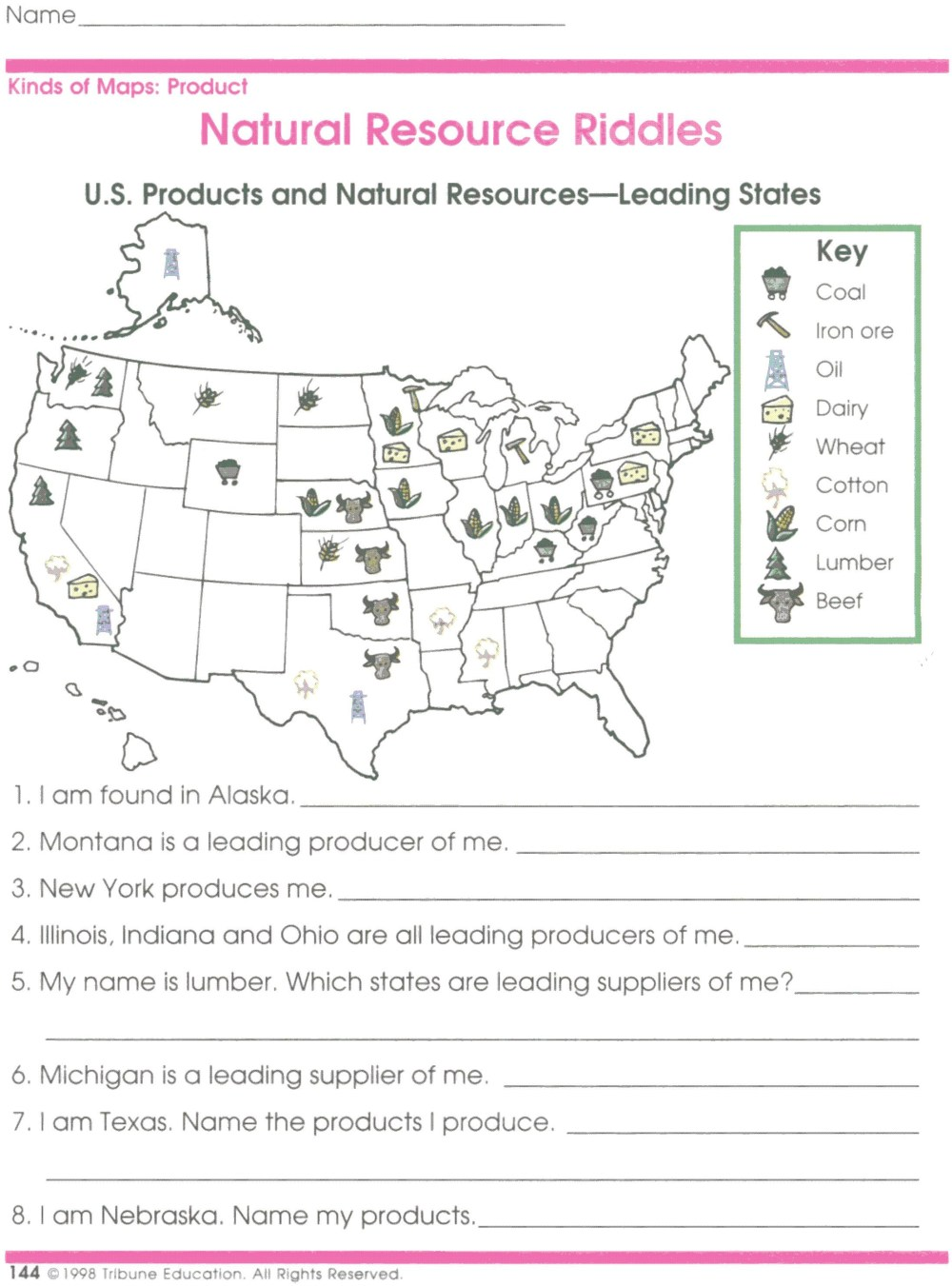 medium resolution of 4th Grade Map Worksheets   Printable Worksheets and Activities for  Teachers