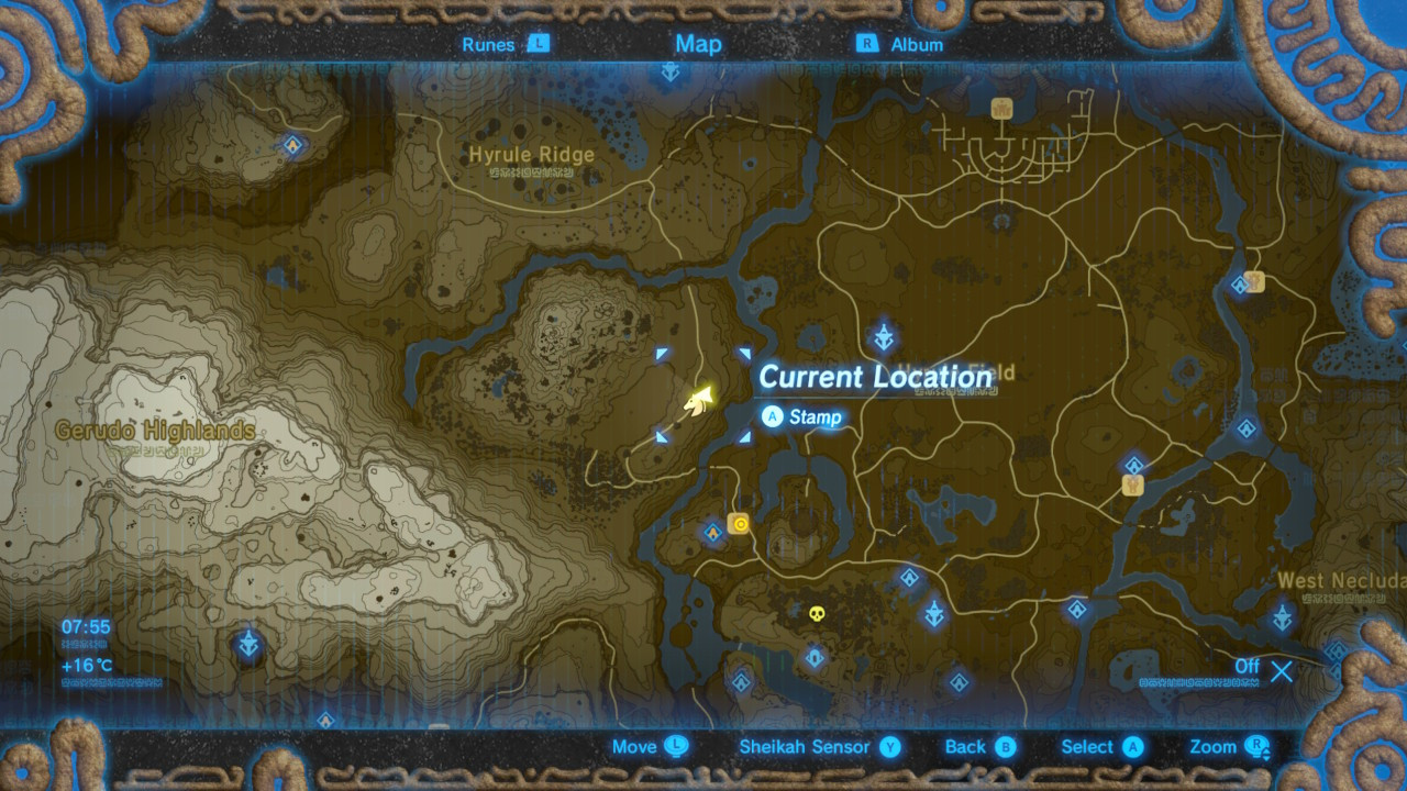 10 Awesome Printable Zelda Map Breath Of the Wild | Printable Map