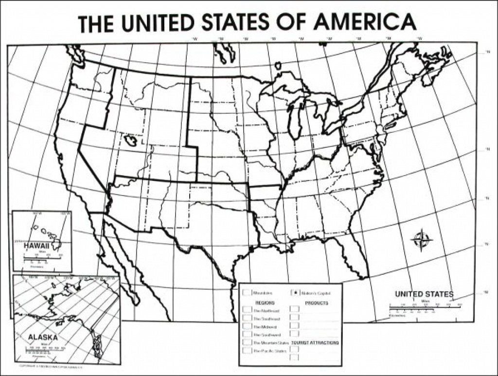United States Physical Map Worksheet