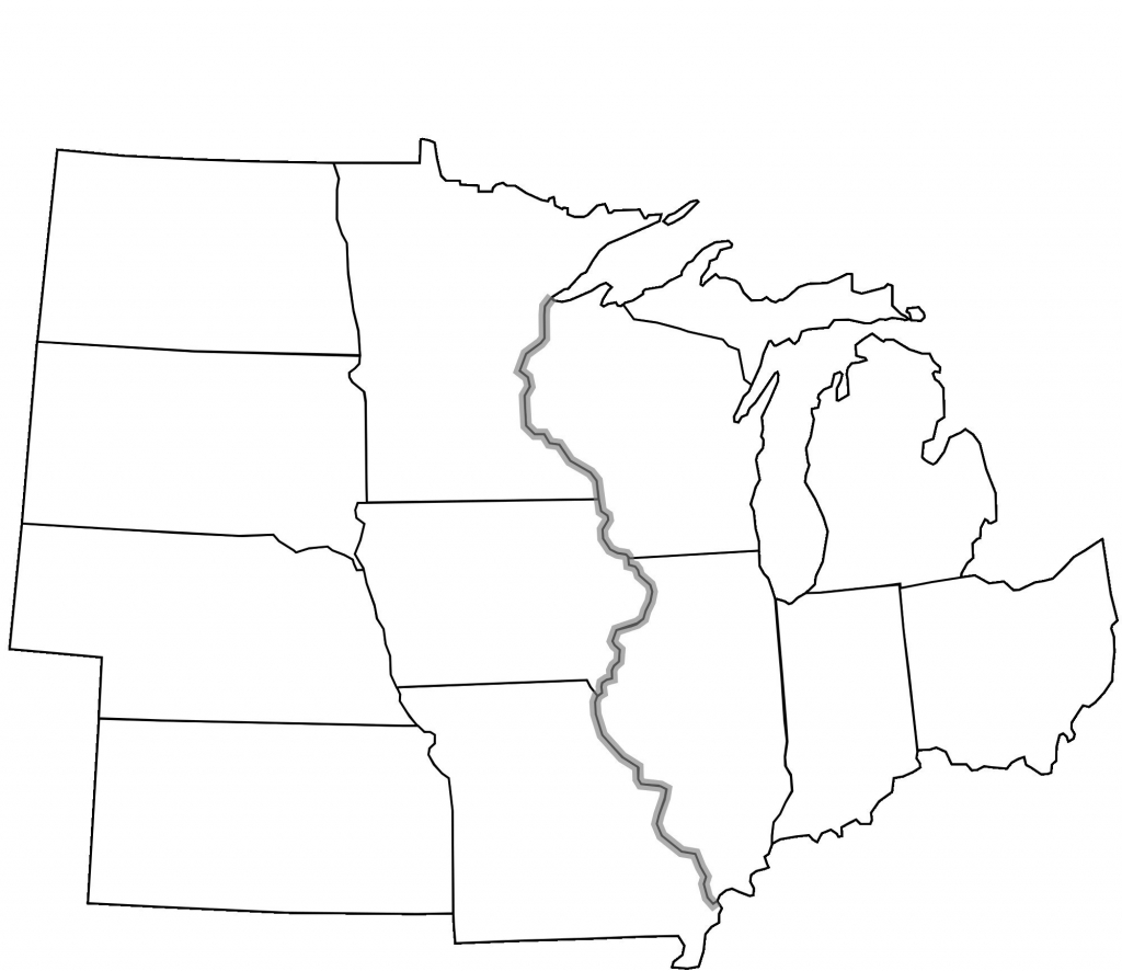 Blank Map Of Midwest States