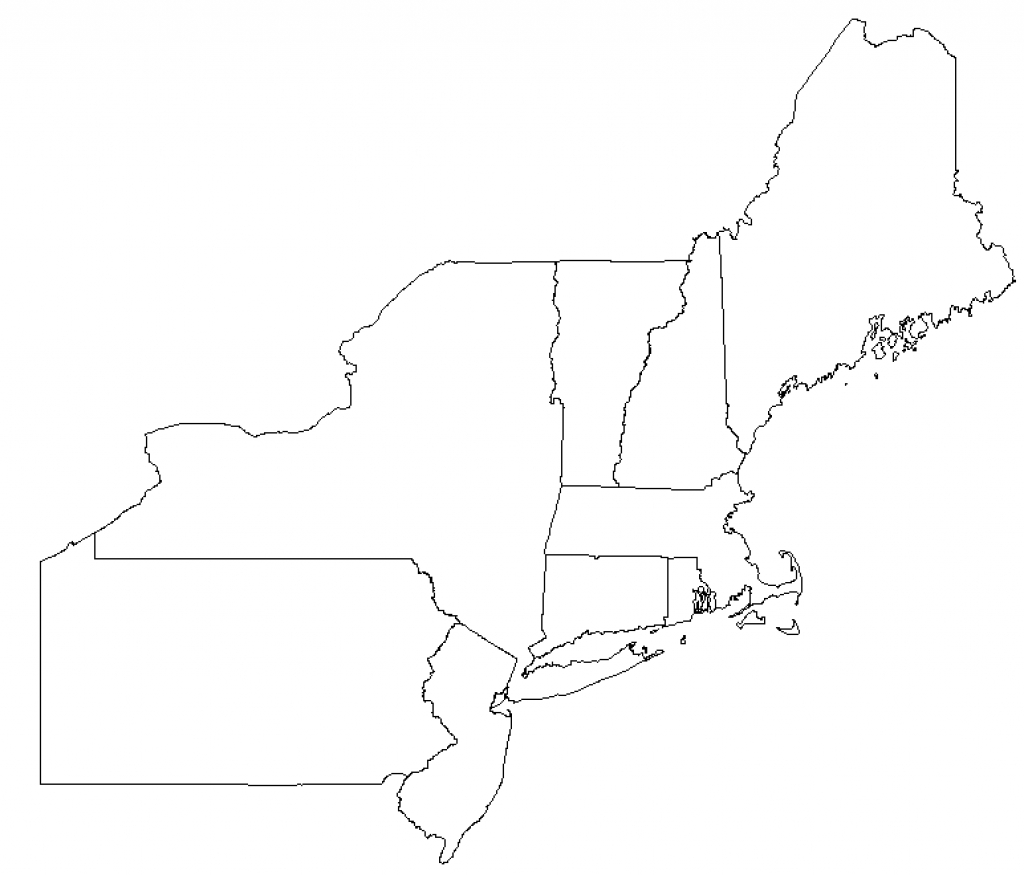 Outline Map Northeast States