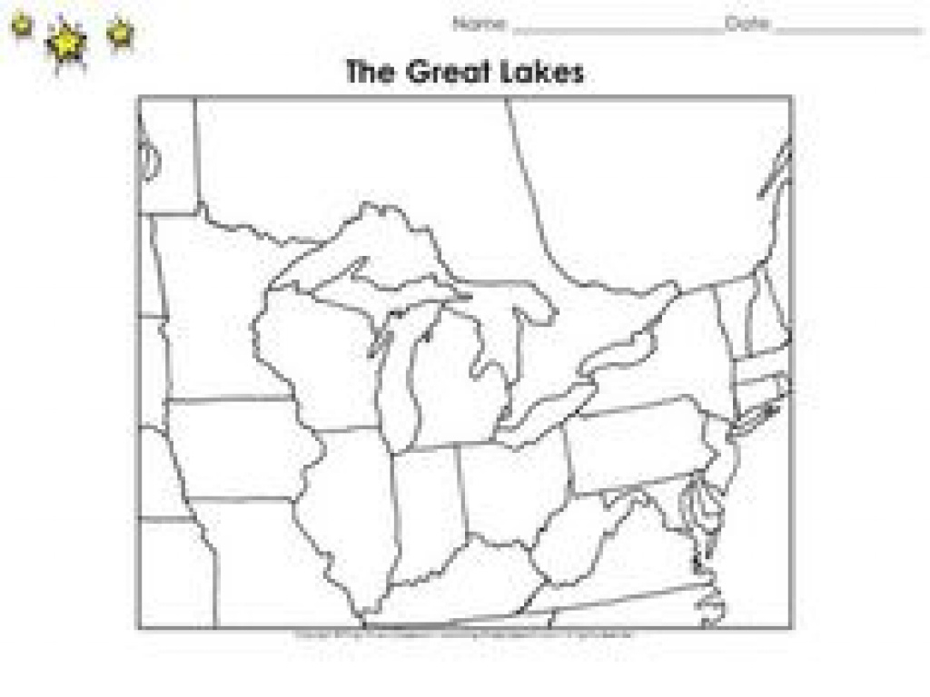 Great Lakes States Outline Map