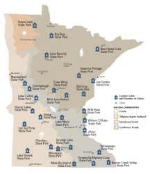state map minnesota cabins camper park parks mn cabin mea olson dnr road within trip twin printable county locations source