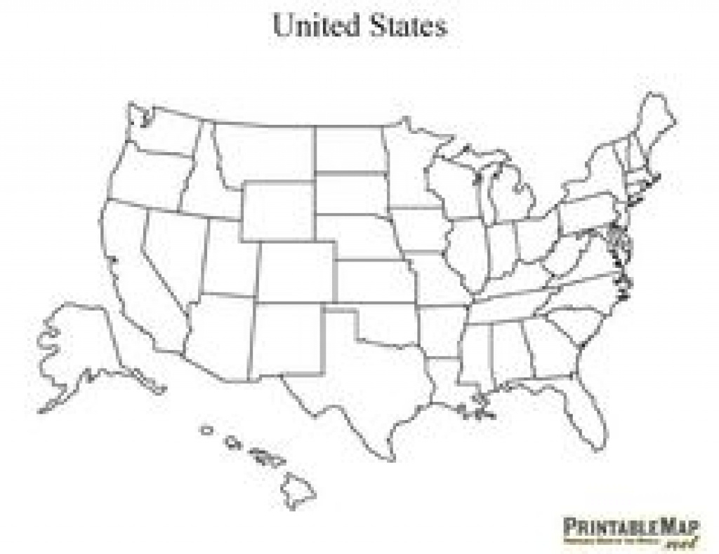 Map Of The United States That You Can Fill In