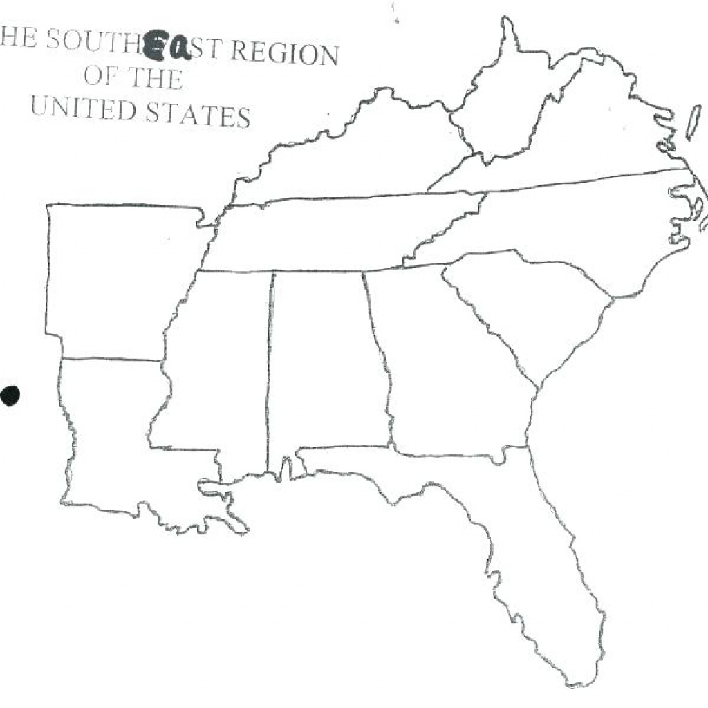 Southeast Region Map With States And Capitals