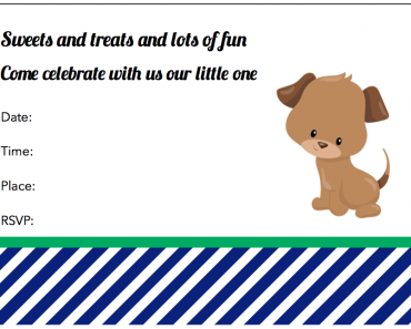 free printable puppy dog party