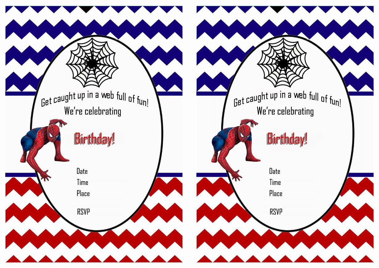Free Printable Spiderman Birthday Invitations Free