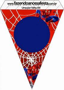 free printable spider man banner free