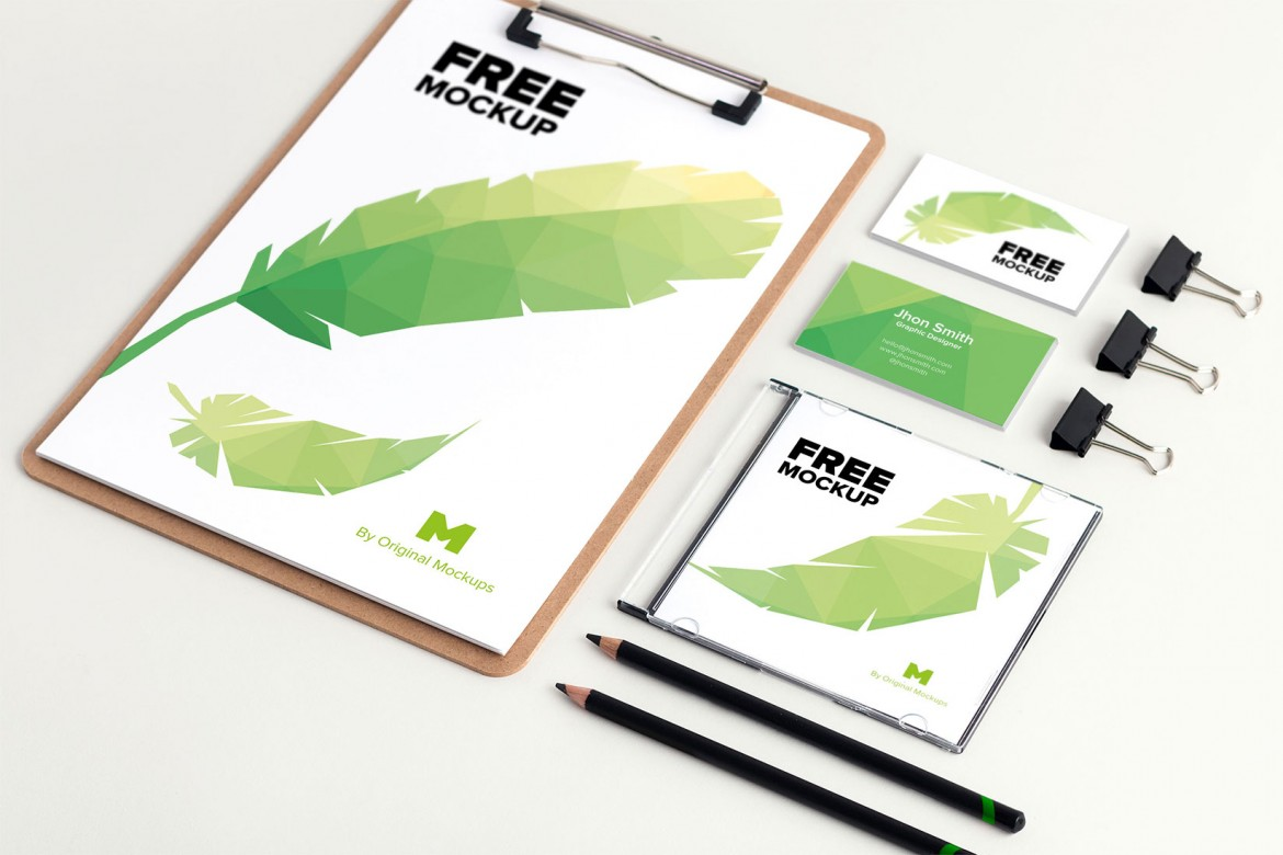 55 Free Branding Identity Mockups To Be Modern And