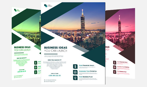 30 Free PSD Business Flyers Brochures Templates! Free PSD Templates