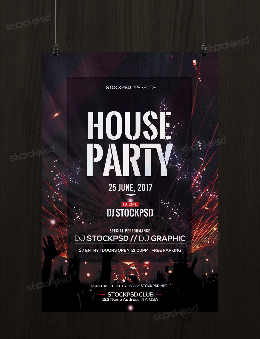 House Party – Download Free Psd Party Flyer Template