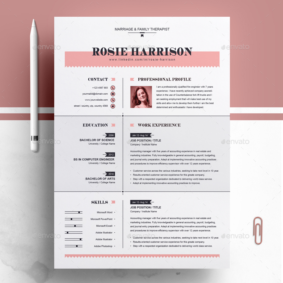 This marketing resume has a bold. 74 Free Psd Cv Resume Templates Cover Letters To Download And Premium Version Free Psd Templates