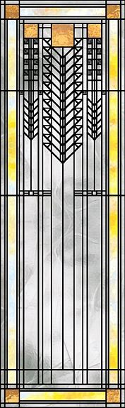 'Prairie Doorway' Stained Glass Pattern