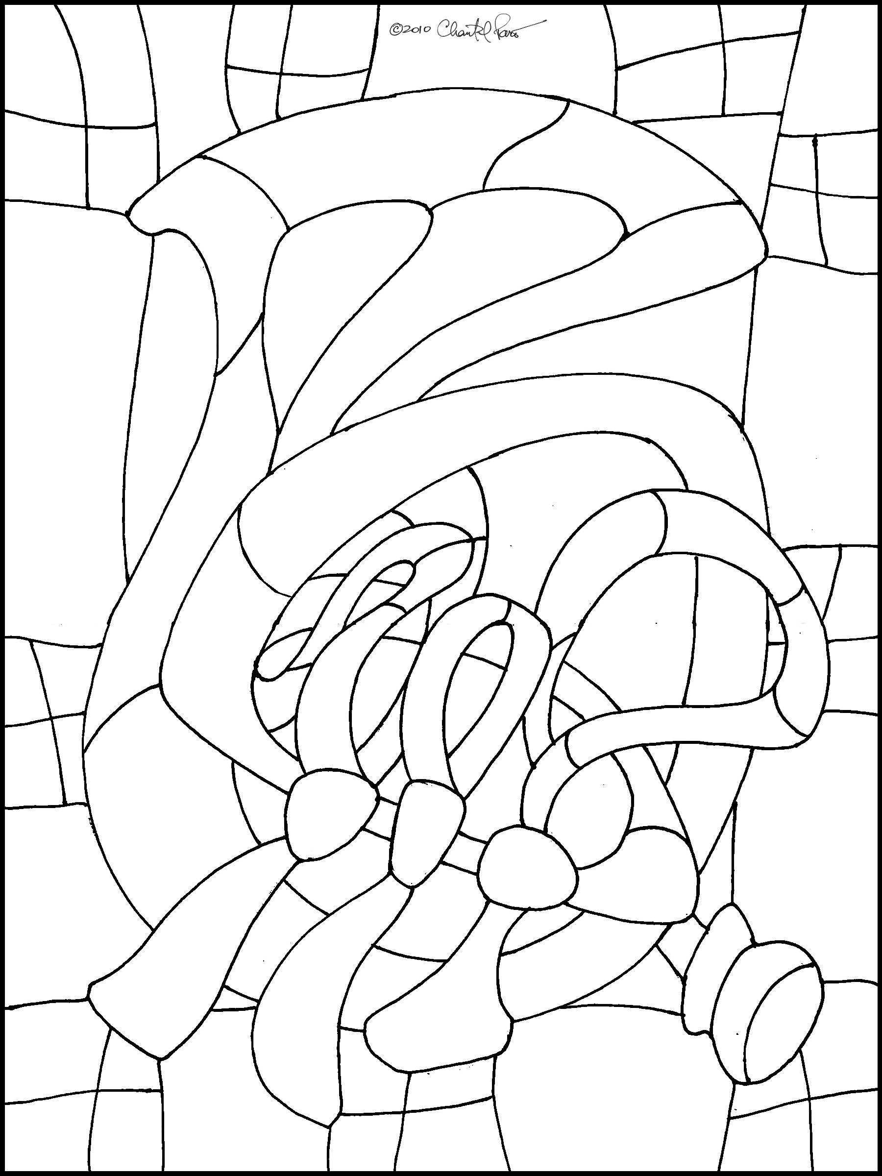 French Horn Stained Glass Pattern
