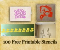 Free Printable Stencils, Wall, Fabric and Furniture Stencils