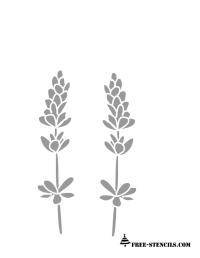 Free Printable Lavender Flowers Stencil