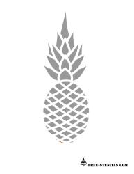 pineapple stencil printable stencils outline print silhouette templates printables cricut simple patterns painting luau apple crafts pine coloring