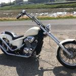SOLDOUT! HONDA STEED400 90s style white 29.8万円
