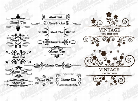 European-young-lace-Vector-material