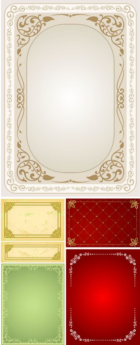 Practical-lace-border-vector-material-450x1105