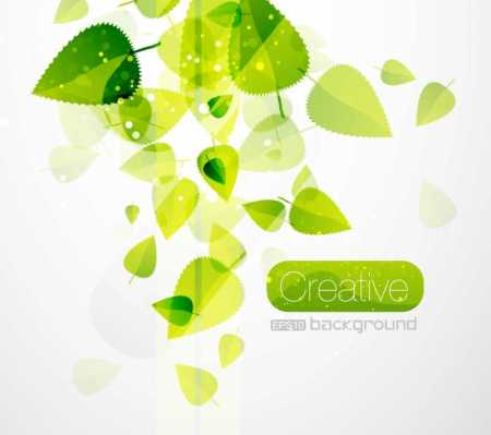 Spring-Vector-Green-Leaves--450x399